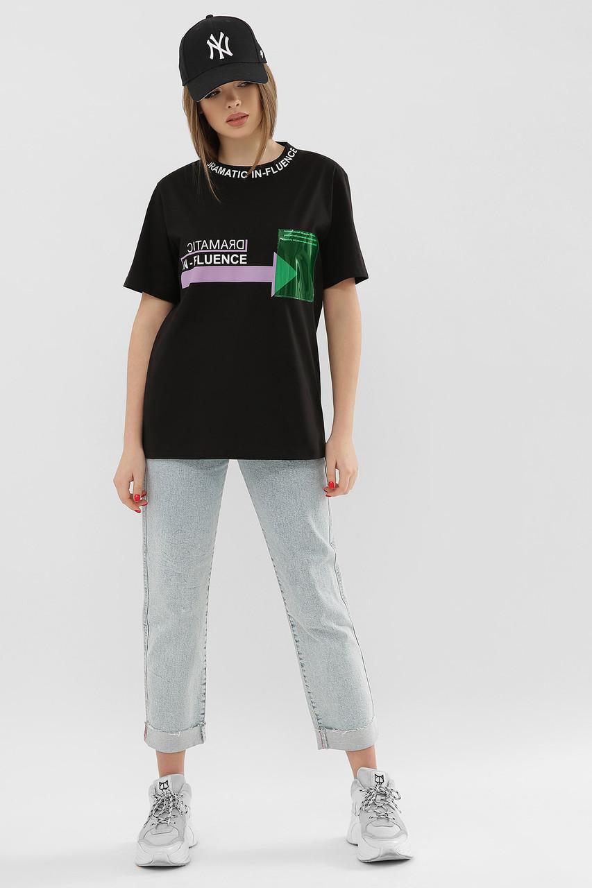 ЖІНОЧА футболка 6047 ФУТБОЛКА VR-Y Розміри S M L XL