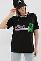 ЖІНОЧА футболка 6047 ФУТБОЛКА VR-Y Розміри S M L XL, фото 3