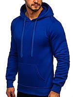 Толстовка с капюшоном синяя, худи стильное молодежное Турция