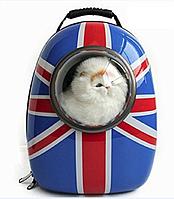 Рюкзак-переноска с иллюминатором для переноски животных SpaceX Великобритания  42-32-29 см, фото 1