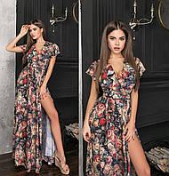 Шикарне літнє плаття в підлогу з імітацією запаху ТК/-62176/2