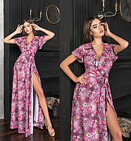 Шикарне літнє плаття в підлогу з імітацією запаху ТК/-62176/3