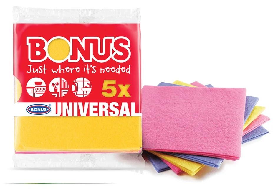 Універсальні серветки для прибирання віскозні Bonus B170 Універсальний Cloth 5шт