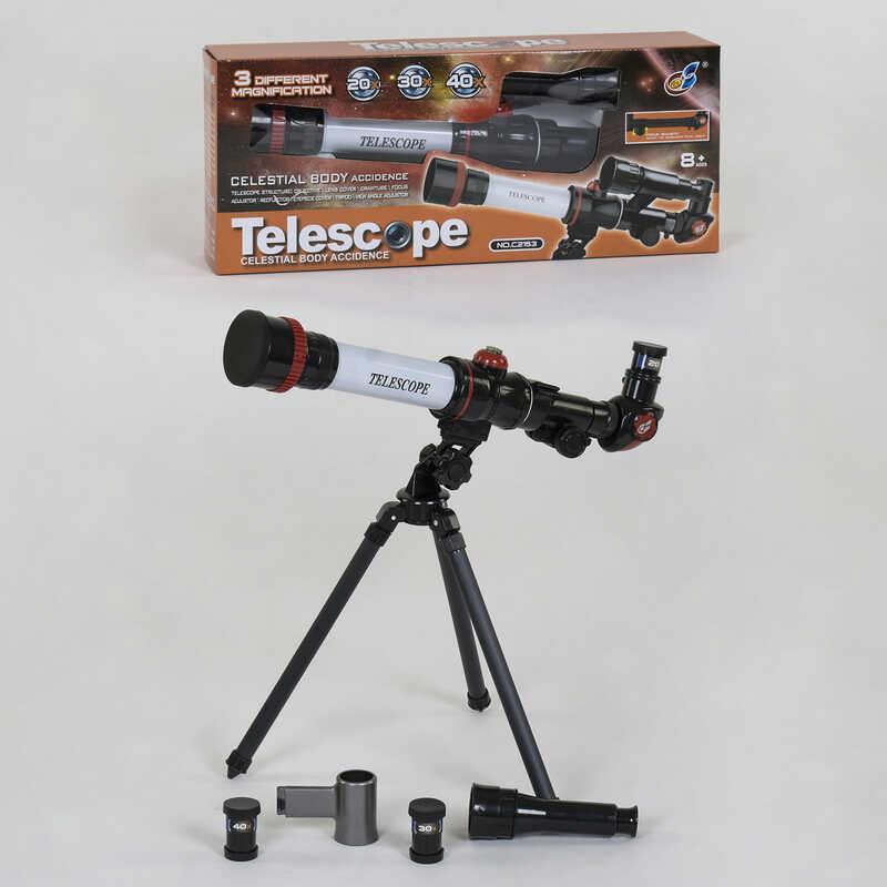 Телескоп детский C 2153 (24/2) настольный, 3 степени увеличения, в коробке