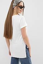 ЖЕНСКАЯ  футболка  белая VR Размеры S M L, фото 2