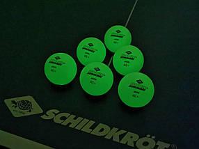 М'ячі для настільного тенісу Donic Glow in the dark 40+, 6 шт, зелені, фото 3