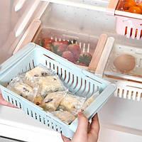 Розсувний пластиковий контейнер для зберігання продуктів в холодильнику storage rack (120)