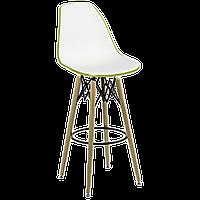 Стул барный Tilia Eos-V ножки буковые оливковый - белая слоновая кость, фото 1