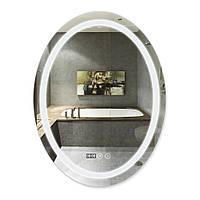 Зеркало для ванной овальное с антизапотеванием 600х800 Qtap Mideya LED подсветка DC-F801