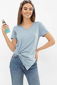 ЖЕНСКАЯ  футболка  Цвет: джинс VR Размеры S M L