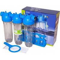 """Тройной магистральный фильтр для воды Atlas Filtri DP TRIO SX (TS) 3/4"""" - 10"""" (ZA3310680)"""