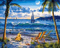 Картины по номерам 40×50 см Babylon Райский пляж (VP 1356)