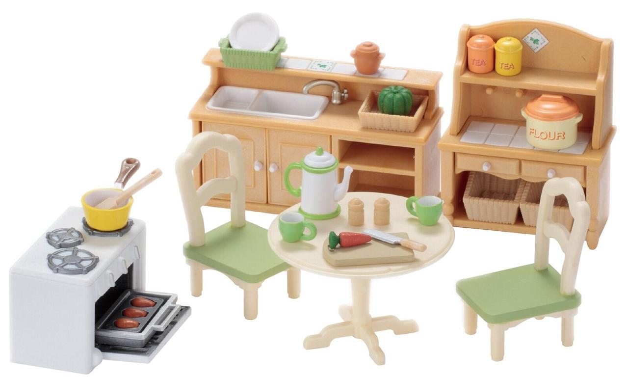Sylvanian Families 5033 Кухня Country Kitchen Set Room Epoch
