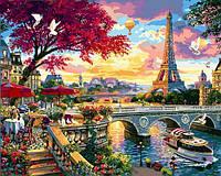 Картины по номерам 40×50 см Babylon Цветущий Париж (VP 1359), фото 1