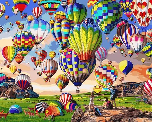 Картины по номерам 40×50 см Babylon Воздушные шары (VP 1360)