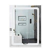 Зеркало для ванной с антизапотеванием 600х800 Qtap Mideya LED подсветка DC-F937