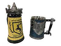 Подарунковий набір Гуртка Game Of Thrones House Герб Баратеонов Гра Престолів і King In The North, фото 1