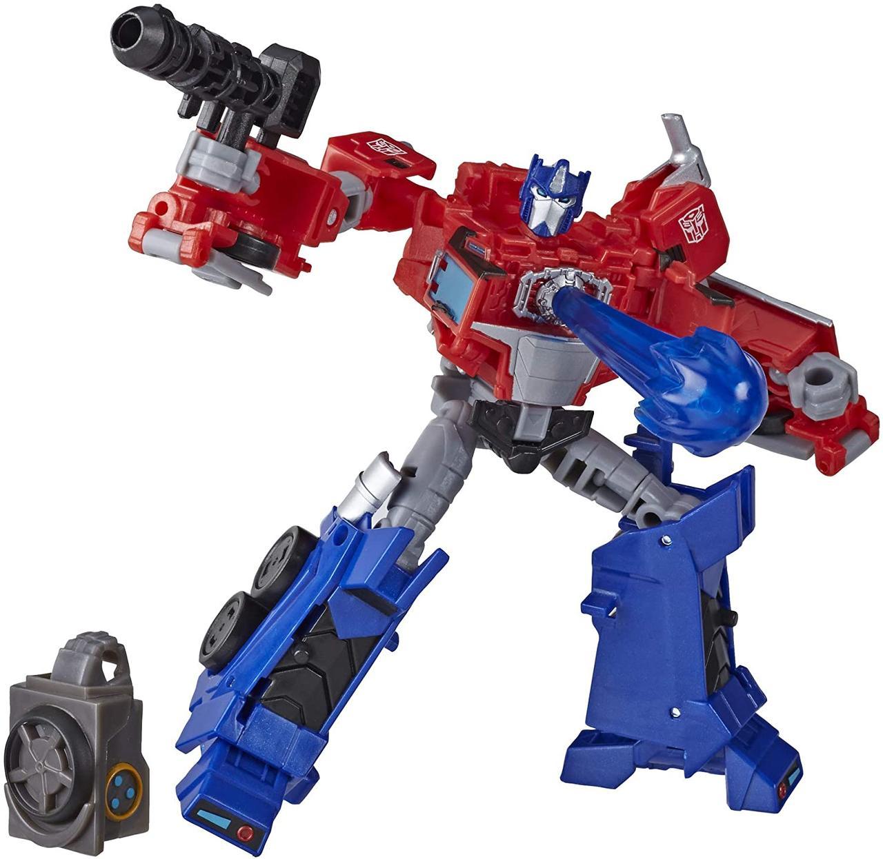 Робот-трансформер Hasbro, Оптімус Прайм, Кибервселенная, 13 см - Deluxe Class Optimus Prime, Build a Hero