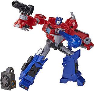 Робот-трансформер Hasbro, Оптимус Прайм, Кибервселенная, 13 см - Deluxe Class Optimus Prime, Build a Hero