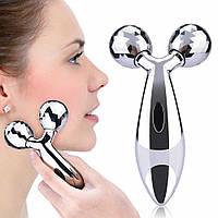 Ліфтинг - 3D масажер для обличчя і тіла 3D Massager MS-040 напилення з платини, роликовий масажер