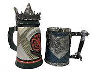 Подарочный набор Кружка Game Of Thrones House Targaryen Fire And Blood Игра Престолов и King In The North, фото 1