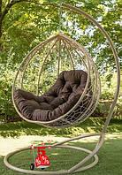 Подвесное кресло-шар качели кокон со стойкой Люкс, подвесные висячие кресла яйцо и садовые качели