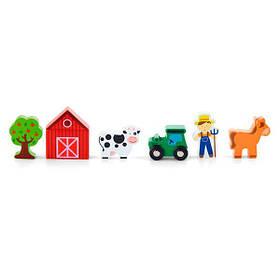 Набір для залізниці Viga Toys Ферма (50812)