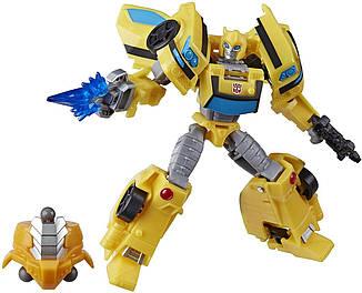 Робот-трансформер Hasbro, Бамблби, Кибервселенная, 13 см - Deluxe Class Bumblebee, Build a Hero