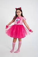 Детский костюм карнавальный для девочки Пони Единорог My Little Pony Pinkie Pie Пинки Пай р.110-140