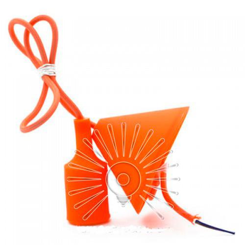 """Подвес пластиковый  """"V-образный"""" + E27 оранжевый 1м  для LED ламп Lemanso"""