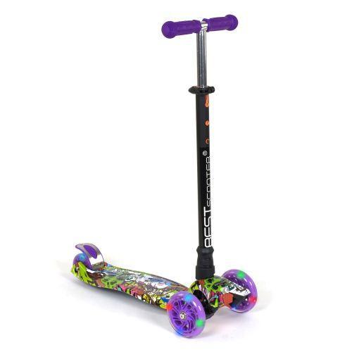 Самокат фіолетовий триколісний дитячий, Best Scooter Maxi