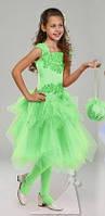 Детское нарядное платье Фея салатная - прокат, Киев, Троещина