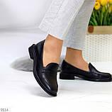 Жіночі чорні туфлі / лофери натуральна шкіра, фото 2