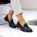 Жіночі чорні туфлі / лофери натуральна шкіра, фото 3