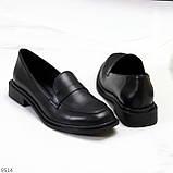 Жіночі чорні туфлі / лофери натуральна шкіра, фото 5