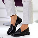 Жіночі чорні туфлі / лофери натуральна шкіра, фото 6