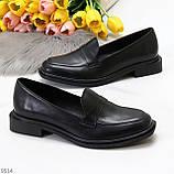 Жіночі чорні туфлі / лофери натуральна шкіра, фото 7
