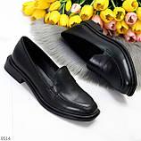 Жіночі чорні туфлі / лофери натуральна шкіра, фото 8