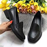Жіночі чорні туфлі / лофери натуральна шкіра, фото 9