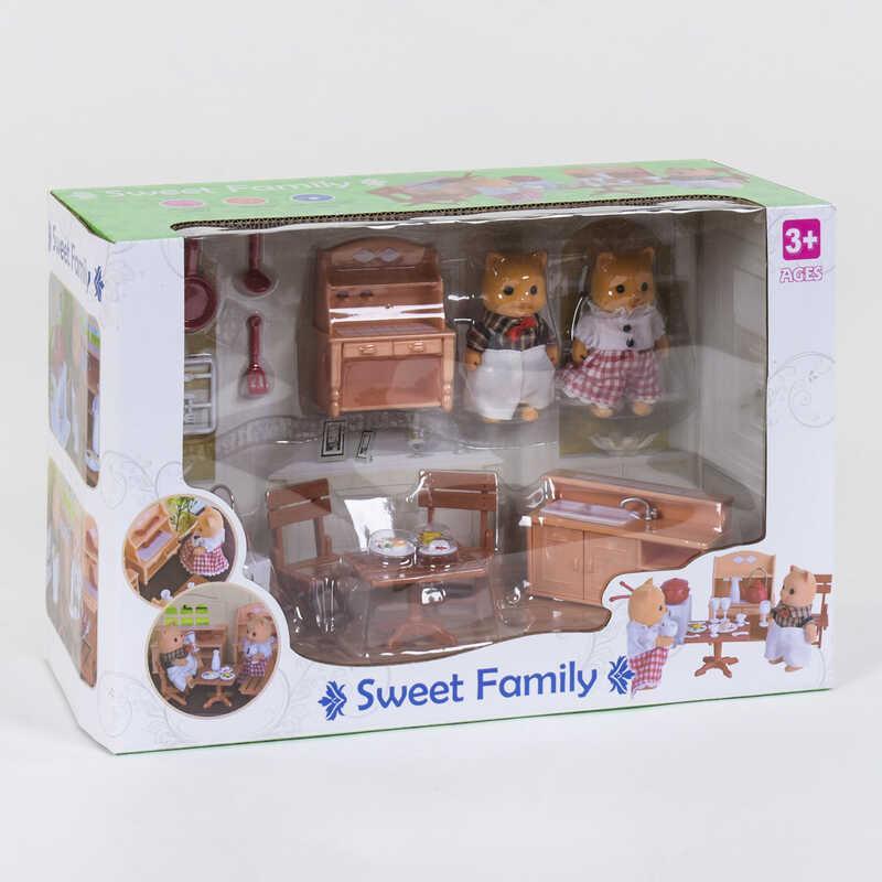 """Набор мебели для кухни 1603 F """"Счастливая семья"""" (12) 2 персонажа, в коробке"""