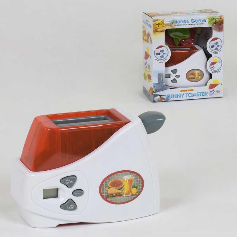 Тостер детский 6001 N (36) таймер, звук, на батарейках, в коробке