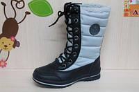 Высокие термосапоги подростковая зимняя обувь, раз 32