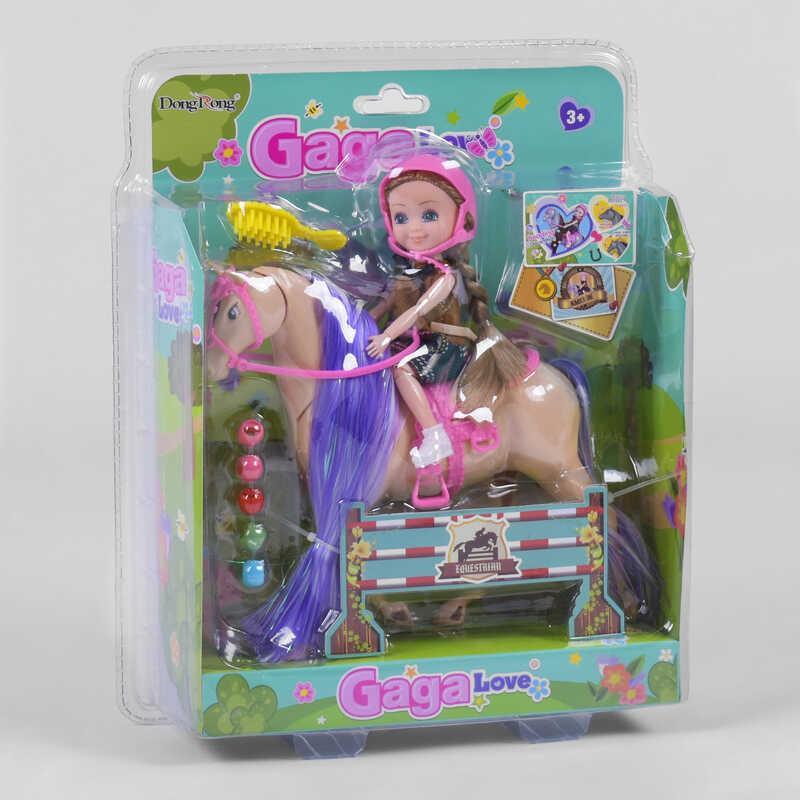 Лялька 53810 (48/2) 2 види, кінь, аксесуари, в слюді