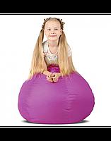 """Дитяче безкаркасне крісло-мішок """"Груша"""" 90х60 (фіолетовий) Oxford 600 Den"""