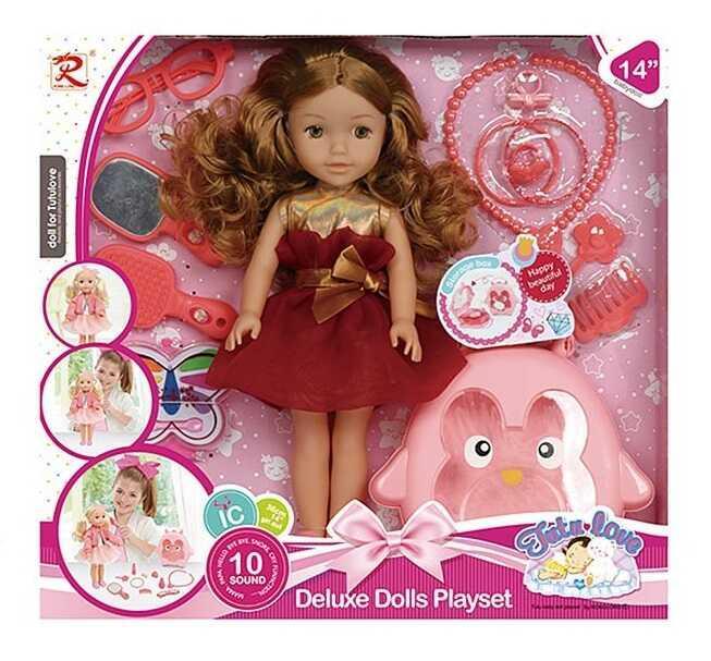 Лялька 8390 (18) співає, говорить фрази англійською мовою, аксесуари, в коробці