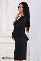 """Изысканное платье для беременных и кормящих """"Catherine"""", черное 1, фото 1"""