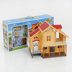 """Вілла """"Щаслива родина"""" 012-03 (6) меблі, фігурка, підсвітка, в коробці"""