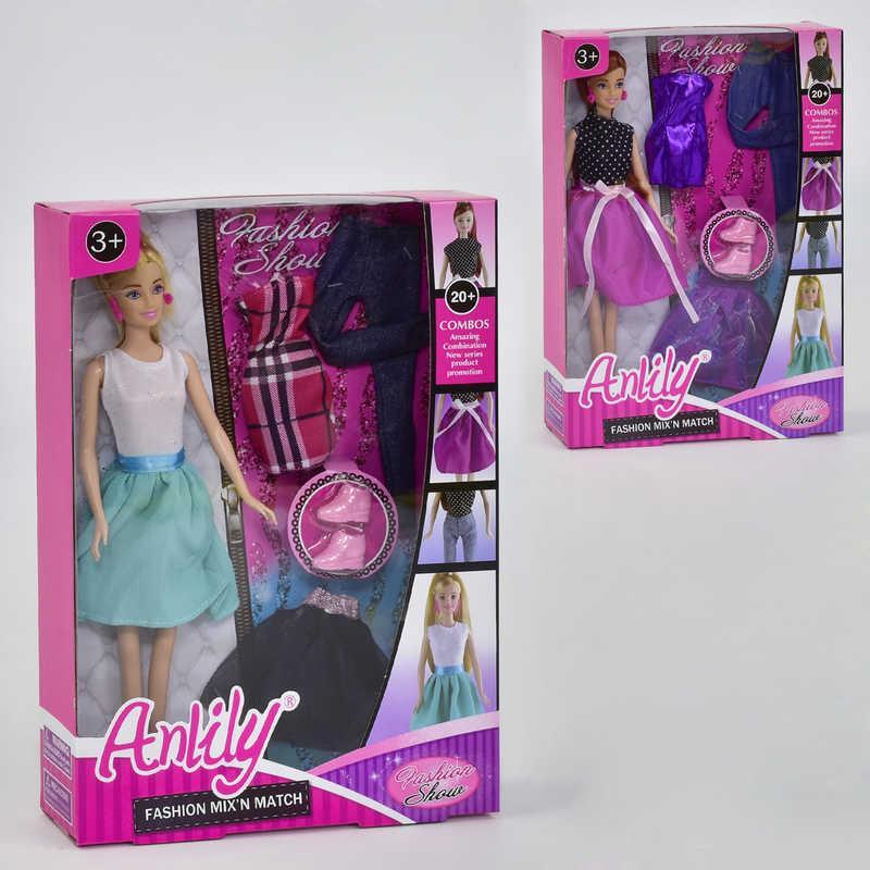 Кукла 99035 (48/2) 2 вида, с одеждой, в коробке