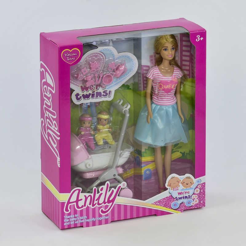 Кукла 99127 (24/2) 2 младенца, коляска, аксессуары, в коробке