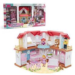 Будиночок 16838 (6) 3 ігрові фігурки, вихованець, меблі, в коробці